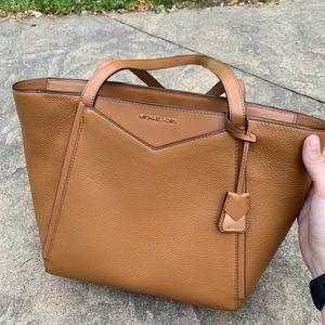 NWOT Michael Kors large leather tote bag